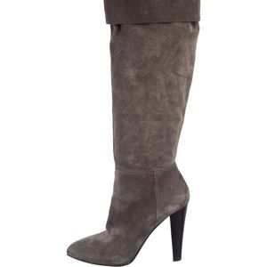 MIU MIU Gray Suede Knee High Boots US9.5/EU39.5